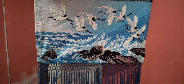 Quadro de tecido feito à mão - Foto 3