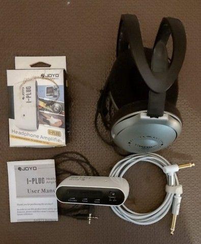 Mini Amplificador Joyo I-plug e Fone de ouvido Koss UR-18