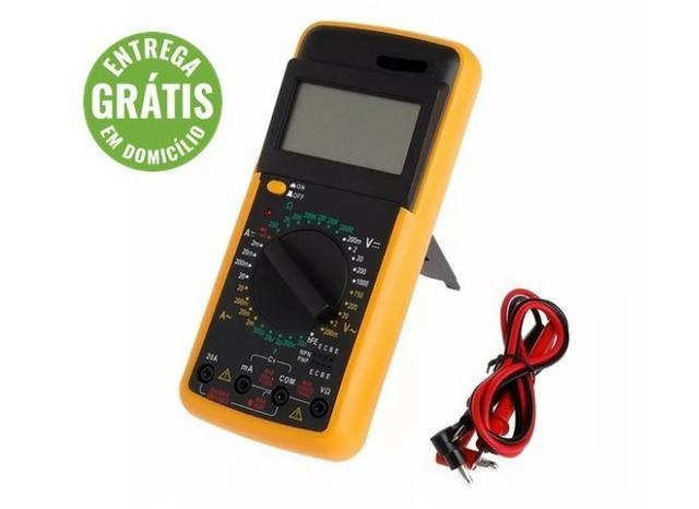 Multímetro digital portátil lcd acdc amperímetro resistência - entrega grátis