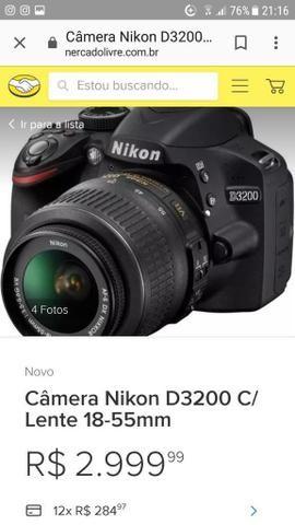 Câmera profissional novíssima - Foto 2