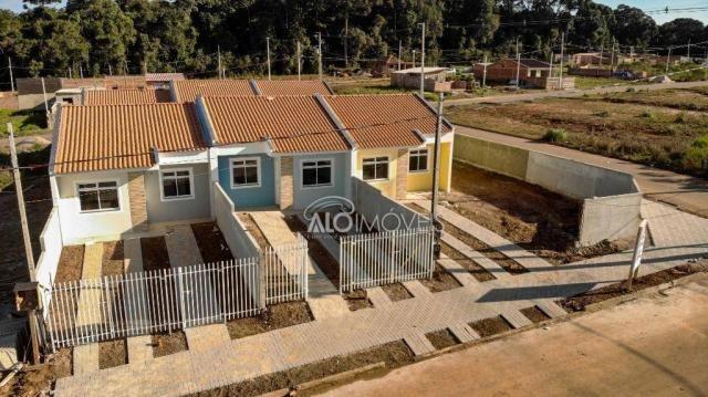 Casa com 2 dormitórios à venda, 42 m² por r$ 130.000 - estados - fazenda rio grande/pr