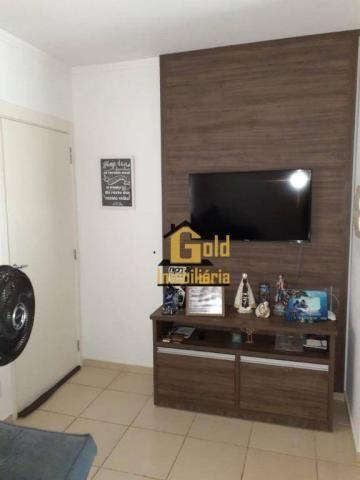 Apartamento com 2 dormitórios para alugar, 46 m² por R$ 1.200/mês - Jardim Heitor Rigon -  - Foto 4