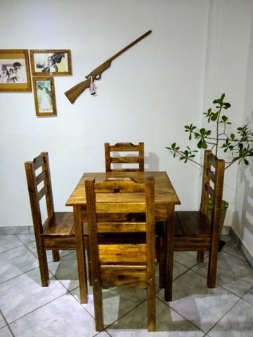 Mesa com 4 cadeiras conjunto Cintia plus direto da fábrica - Foto 3