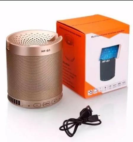 Caixa Som Bluetooth 5w Rádio Fm Bateria longa duração - Foto 4