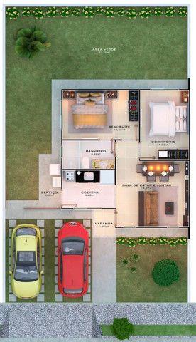 34- Construtora Lua Nova- Casas, no Bella Citá, com 2 vagas na garagem e com semi suíte