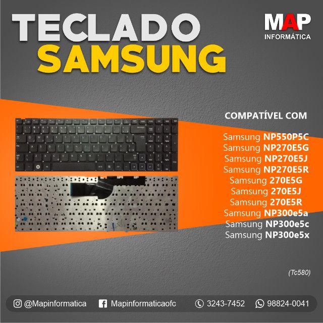 Teclado Notebook Samsung np550p5c np270e5j 15.6 NOVO