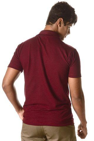 Camisa Polo Masculina Nova Vinho (Entrega Grátis Uberaba/MG) - Foto 4