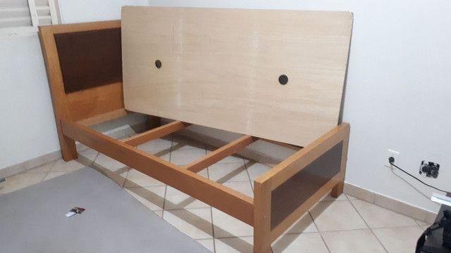 Cama maciça solteiro com colchão de mola - Foto 2