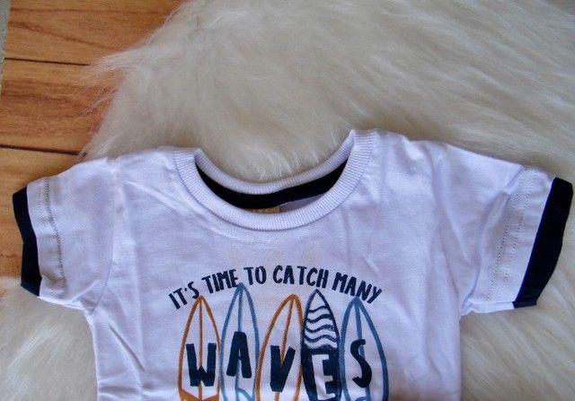 Conjunto Infantil Colorittá Menino Camiseta E Bermuda - Foto 3