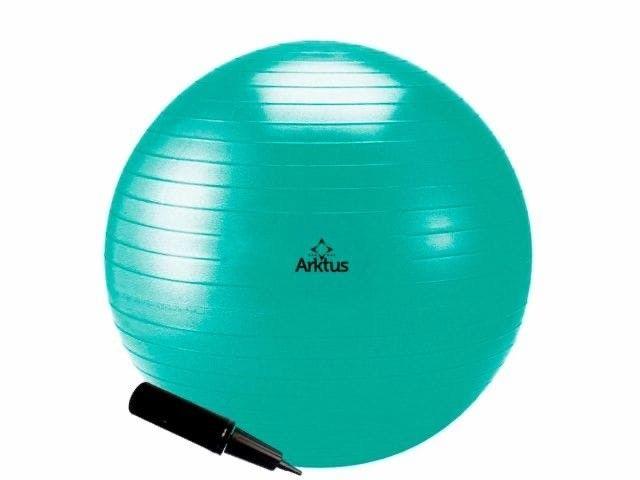 Bola Suíça 55cm para Pilates - Inflável -com Bomba- Arktus -Nova