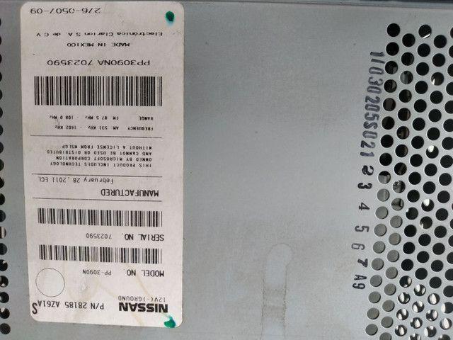 Rádio original Nissan AM/FM AUX e cd mp3 - Foto 3