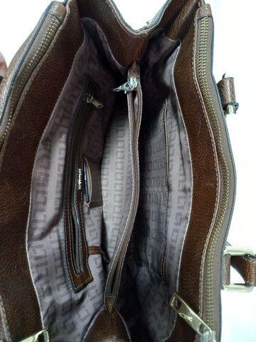 Bolsa de couro marrom Luz da Lua  - Foto 4