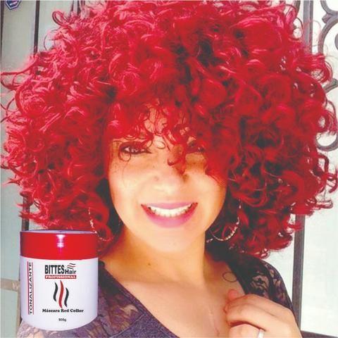 Máscara Matizadora 500 g Red Tonalizante Red Collor Vermelha Bittes Hair Profissional - Foto 3