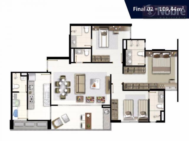 Apartamento com 3 dormitórios à venda, 113 m² por r$ 652.300 - plano diretor sul - palmas/ - Foto 15