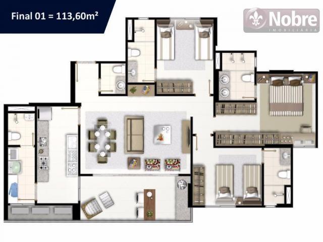 Apartamento com 3 dormitórios à venda, 113 m² por r$ 652.300 - plano diretor sul - palmas/ - Foto 14