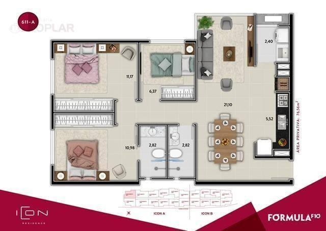 Apartamento com 2 dormitórios à venda, 58 m² por r$ 520.899,49 - centro - balneário cambor - Foto 14
