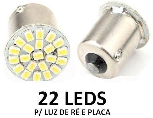 2 Lâmpadas 22 Led Smd 1 pólo 1156 Ré Placa Vectra Celta Corsa - Foto 2