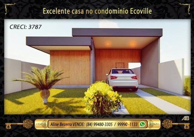 Casa no ecoville, 3 quartos sendo 2 suítes, churrasqueira, confira - Foto 2