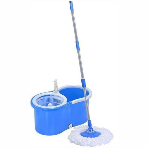 Balde Giratorio Mop Vinik Azul semi novo com 2 refis - Foto 2