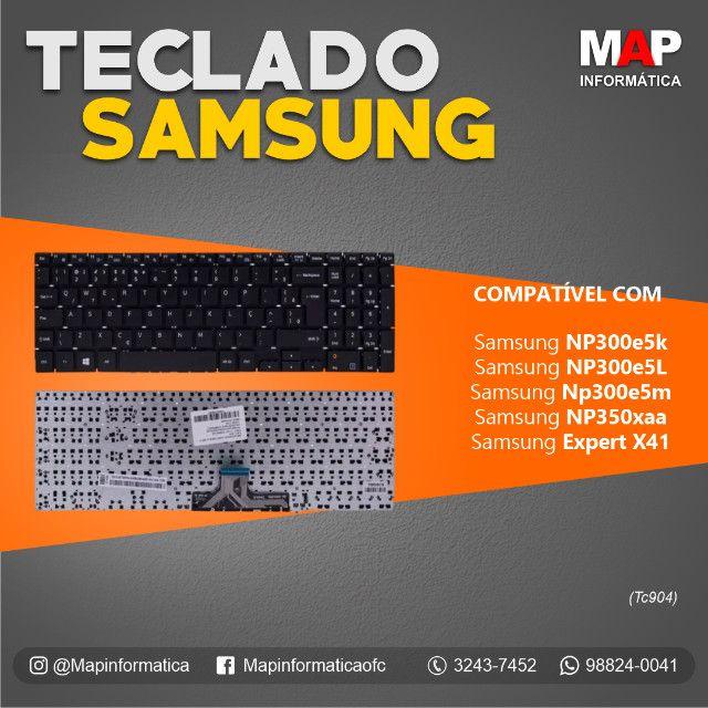 Teclado notebook samsung np300e5k, np350xaa ( novo )