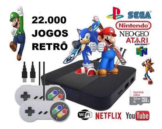 Vídeo game retrô com 22 mil jogos Top lacrado