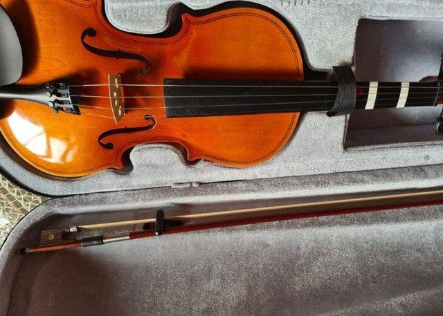 Violino Barth 4/4 com caixa e suporte de violino. - Foto 5