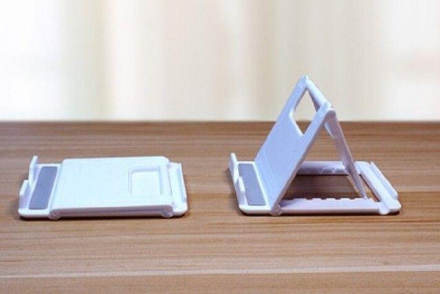 Suporte De Mesa Universal Celular Tablet Smartphone Kindle - Foto 2