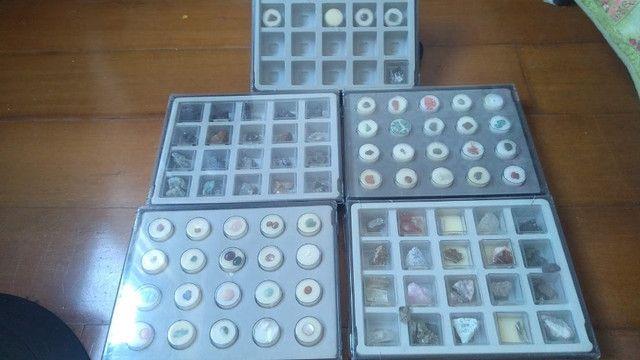 Coleção pedras preciosas com 85 amostras
