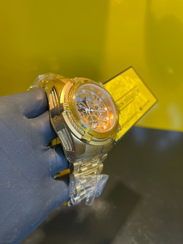 Invicta Zeus Skeleton dourado + entrega  - Foto 2
