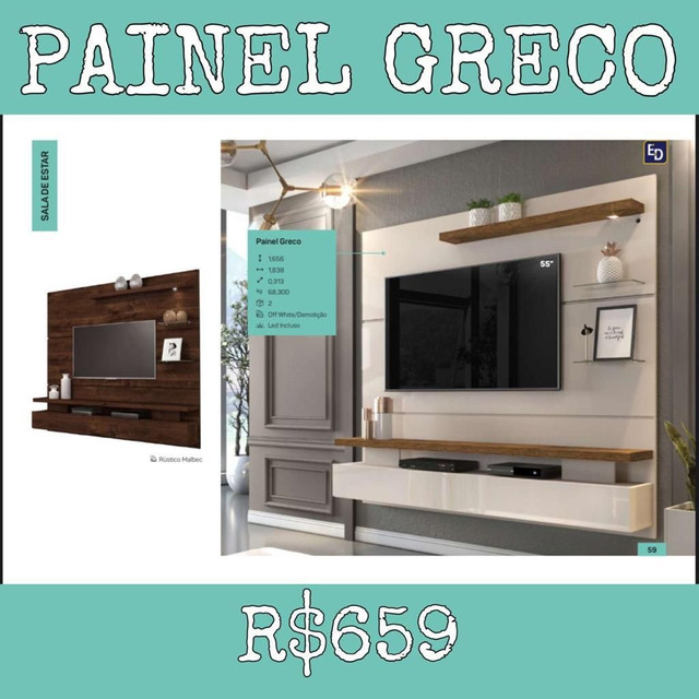 Painel Grego led incluso 283