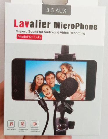 Microfone de Lapela 3,5mm Stéreo - Foto 2