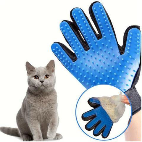 Luva Escova Pet Nano Magnética Tira Pelos De Cães E Gatos - Foto 3