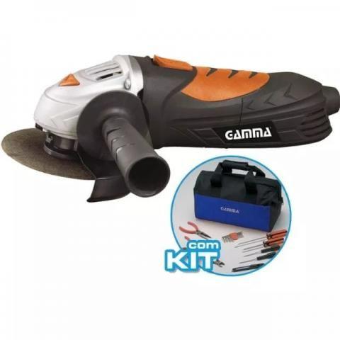 Esmerilhadeira Angular 4 1/2 Gamma Com Kit 710w 220v