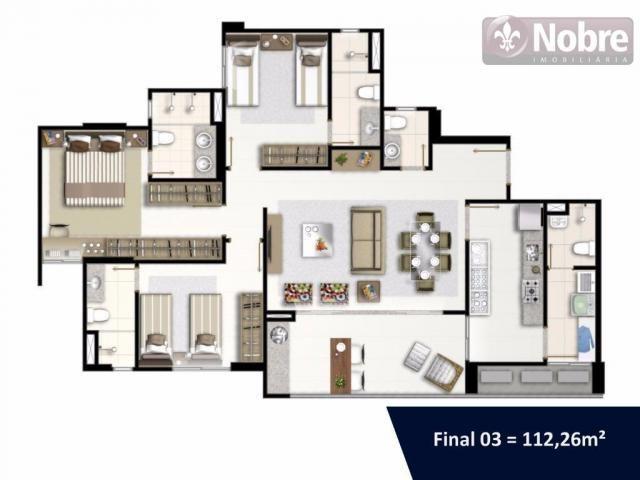 Apartamento com 3 dormitórios à venda, 113 m² por r$ 652.300 - plano diretor sul - palmas/ - Foto 16