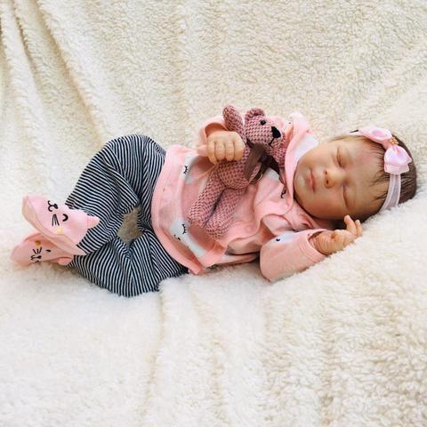 Bebê reborn olhos fechados - Foto 4