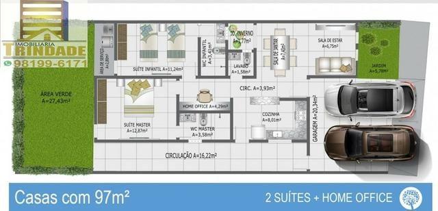 T- Casa Em Condomínio Na Cohama_Próximo Ao Zeus _ 2 e 3 Quartos _ fino Acabamentos - Foto 4