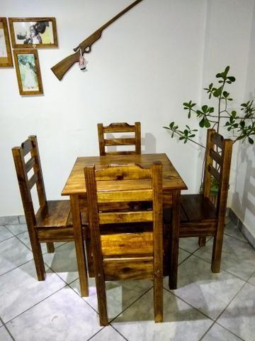 Mesa com 4 cadeiras conjunto Cintia plus direto da fábrica - Foto 2