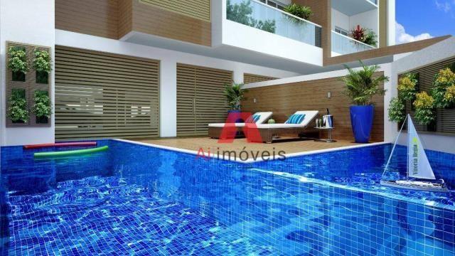 Apartamento com 3 dormitórios à venda, 104 m² por r$ 530.000 - baixa da colina - rio branc - Foto 2