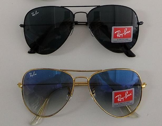 d1eee7edc Óculos Sol Ray-ban Aviador Masculino E Feminino - Bijouterias ...