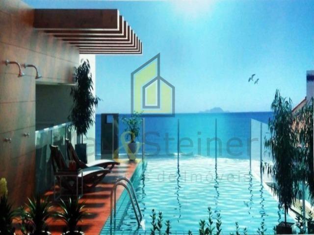 Napraia-Amplo Ap 01 Dorm,piscina e salaõ de festas na cobertura frente mar-parcela! - Foto 6