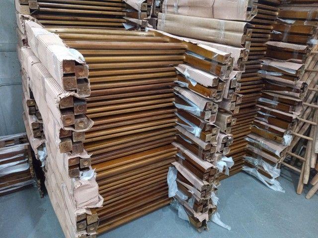 Super saldão Beliche de madeira Reto  0,80 x 1,90 R$280,00 cada - Foto 3