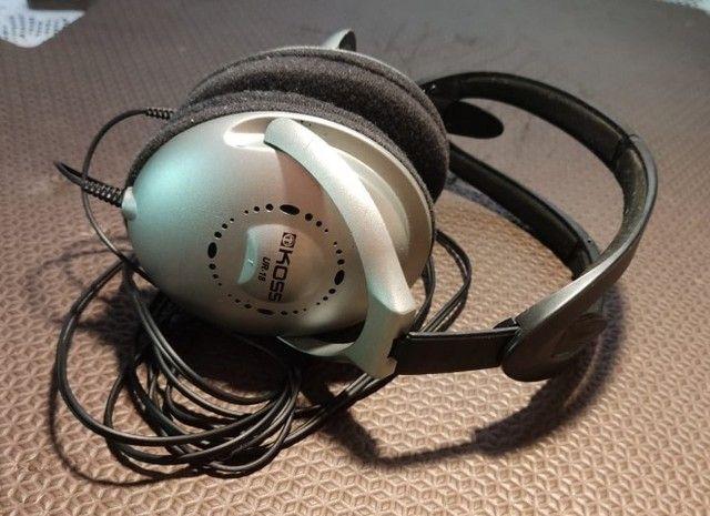 Mini Amplificador Joyo I-plug e Fone de ouvido Koss UR-18 - Foto 6