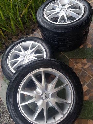 """Rodas 15"""" 4x114 com pneus. - Foto 2"""