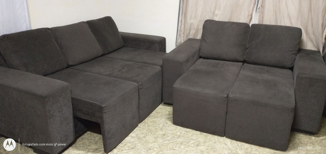 Sofá reclinável 2 e 3 lugares - Foto 3