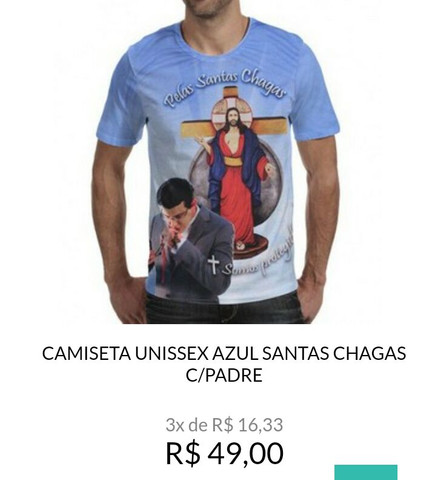 Camisetas santas chagas