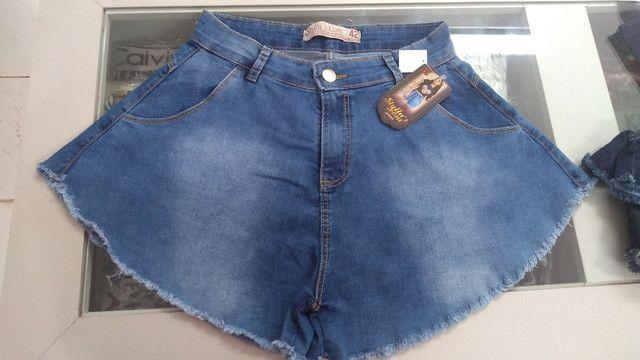 Short godê jeans (promoção) - Foto 2