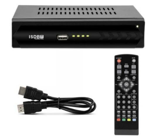 Conversor De Tv Digital Sinal Isdb-t Top Box Usb Grava Programação em Pen Driver!