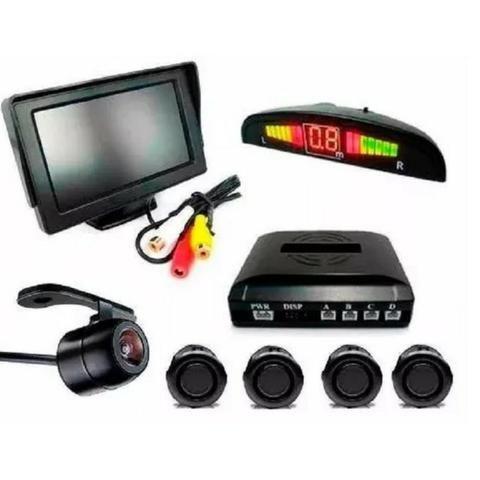 Kit Sensor De Estacionamento + Câmera De Ré + Tela Lcd 4.3 - Van - Carro - Escolar