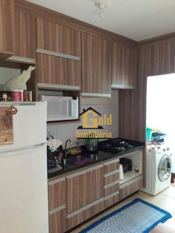 Apartamento com 2 dormitórios para alugar, 46 m² por R$ 1.200/mês - Jardim Heitor Rigon -