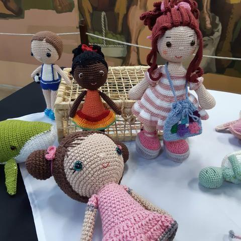 Boneca e bichinhos amigurumi - Foto 5